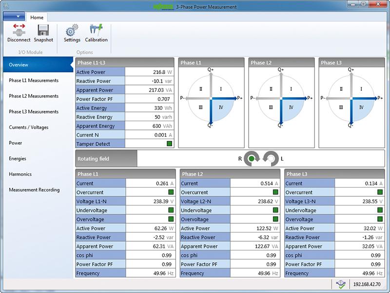 Programy aplikacyjne WAGO do pomiarów parametrów sieci