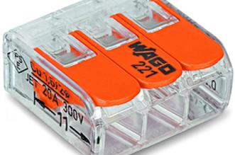Flagowy produkt WAGO złączka 221 - 100% przezroczystości.