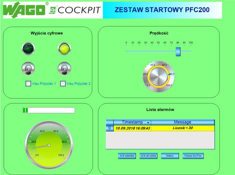 Widok wizualizacji webowej