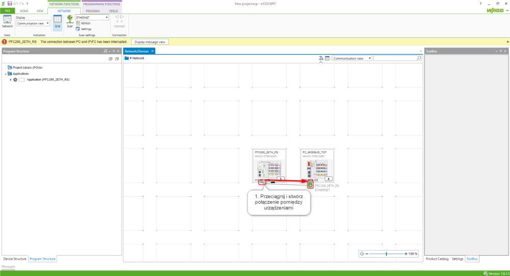 Komunikacja z modułami specjalnymi przez Modbus konfigurator w e!COCKPIT