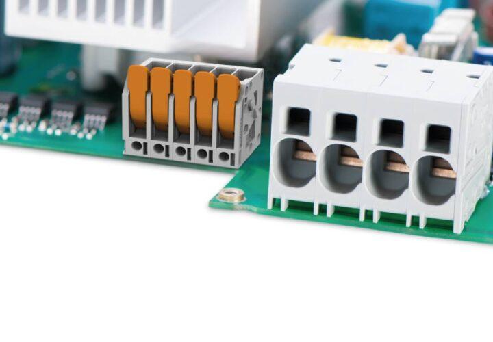 Złączki dla dużych prądów do układów elektronicznych