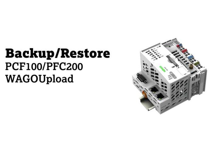 Backup/Restore – PFC100/200 – WAGOUpload